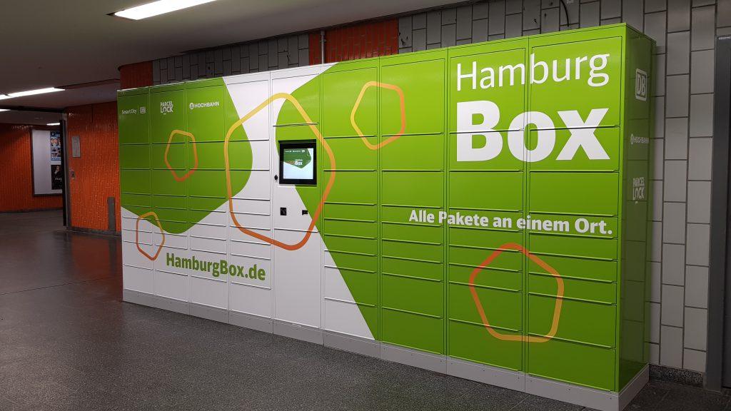 Hamburg Box an der U-Bahn Sengelmannstraße