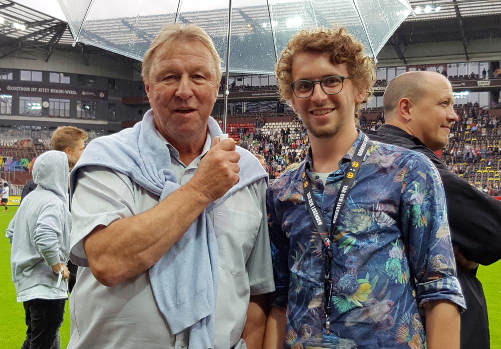 Horst Hrubesch und Mario Kraft