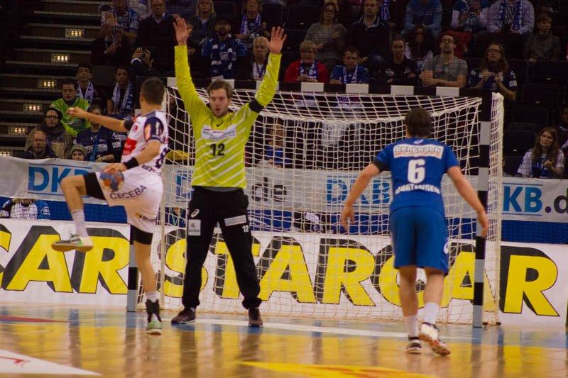 Jens Vortmann im Tor des HSV Handball