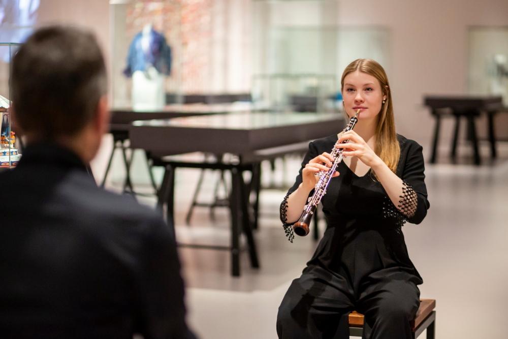 1-1 Konzert im Musuem für Hamburgische Geschichte, Freya Obijon,(Oboe),