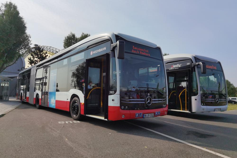 E-Gelenkbusse der Hochbahn Hamburg