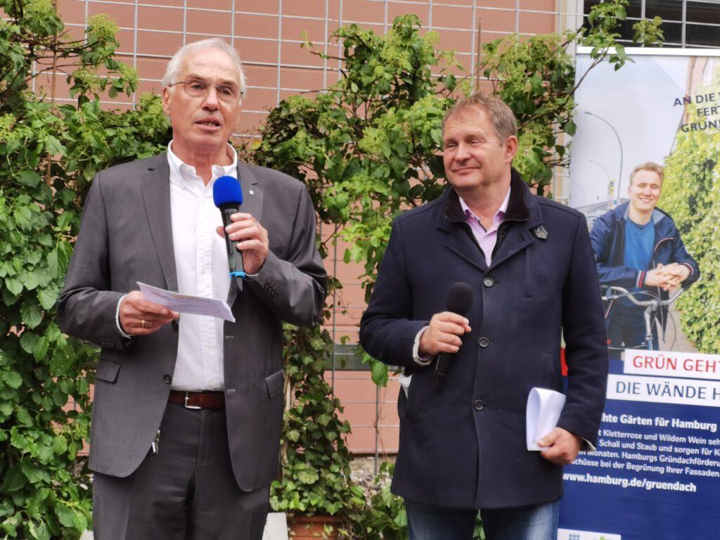 Professor Helmut Dosch und Umweltsenator Jens Kerstan
